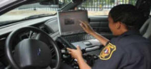East Orange Police Officer Operating The Vehicle MDT