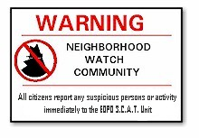 EOPD Is A Neighborhood Watch Community